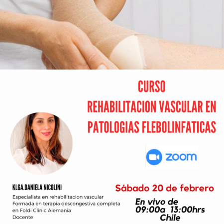 Curso Rehabilitación Vascular en Patologías Flebolinfáticas